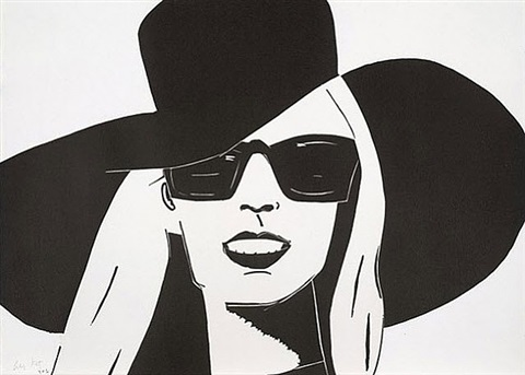 black hat (nicole) by alex katz