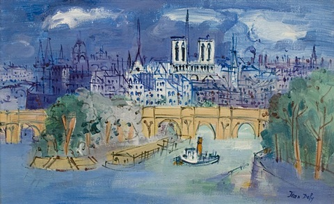 le pont neuf, paris by jean dufy