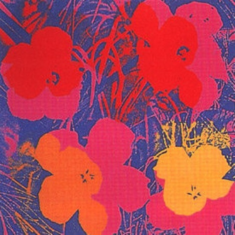 flowers 66 by andy warhol