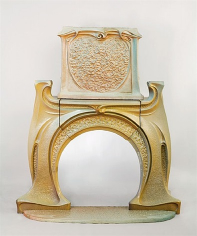 fireplace and chimney piece by hector guimard