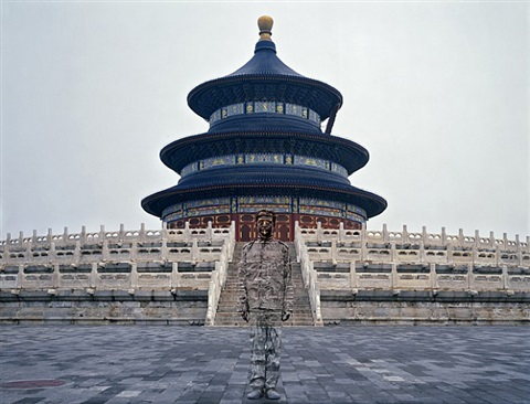 hiding in the city no. 92 - temple of heaven by liu bolin