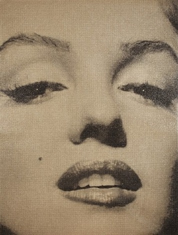 marilyn monroe close up by russell young