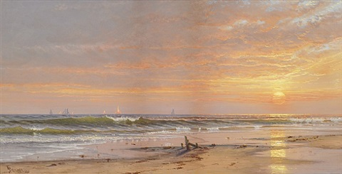 sunset at narragansett by alfred thompson bricher