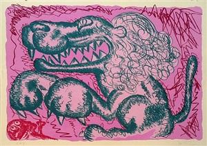 no. 1 medium (pink) by bjarne melgaard