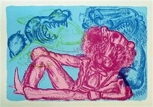 no. 4 (blue) by bjarne melgaard