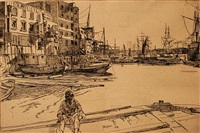 eagle wharf by james abbott mcneill whistler