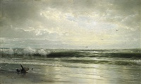 on the coast of new jersey by william trost richards