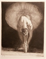 ballerina stretching, a.p. 8 by stephen scott young