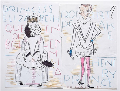 rose wylie henry, thomas, keith jack by rose wylie