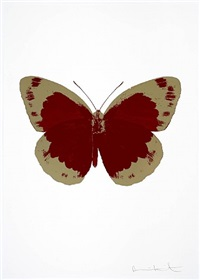 the souls ii - chilli red and cool gold by damien hirst