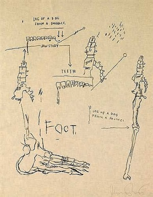 leg of the dog by jean-michel basquiat