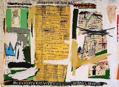 jawbone of an ass (set ii) by jean-michel basquiat