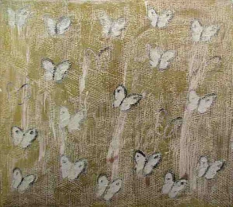 white butterflies by hunt slonem