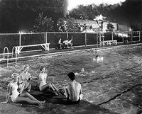 swimming pool, welch, west virginia by o. winston link