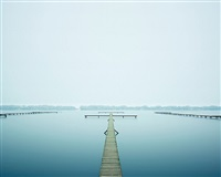 thin dock, west lake, hangzhou china by david burdeny