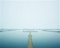 thin dock, west lake, hangzhou china by david burdeny