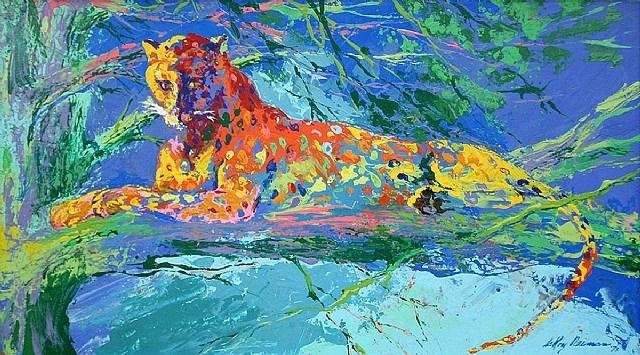 kenya leopard by leroy neiman
