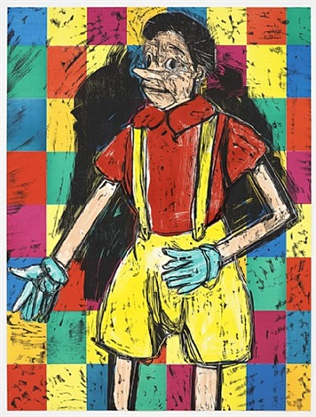 big checkered pinocchio by jim dine