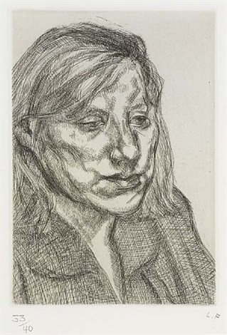 head of ib by lucian freud