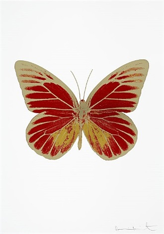 the souls i (chilli red - oriental gold - cool gold) by damien hirst
