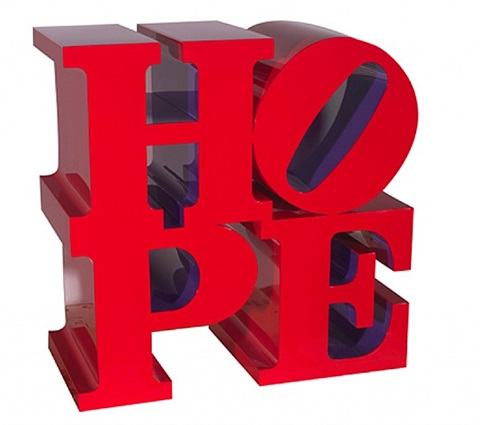 hope (red/violet) by robert indiana