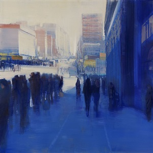 nyc, blue sunlight by david allen dunlop