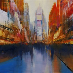 times square vortex (sold) by david allen dunlop