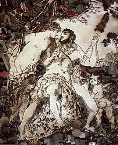 hercules (from pictures of junk) by vik muniz
