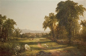 path over the field by john frederick kensett