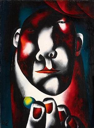 man with lemon by oleg tselkov
