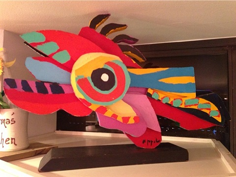flying fish by karel appel