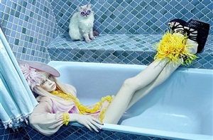 cat story #7 by miles aldridge