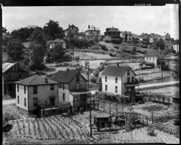 residential area morgantown west virginia june 1935 by walker evans