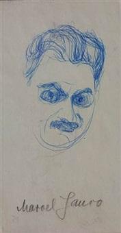portrait of marcel janco - gb2-21 by hans richter