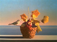 still life with a bird, (aparchai) by david ligare