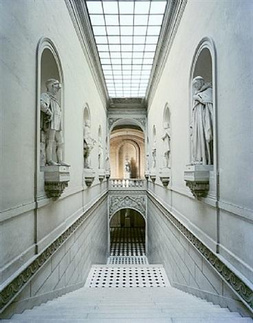 escalier des salles de l'afrique, anr.02.037, aile du nord - 1er étage, versailles (rp.vers.292) by robert polidori