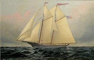 schooner madawaska maid by elisha taylor baker