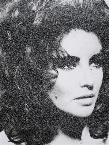 elizabeth taylor avii (atomic silver + black) by russell young