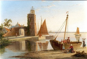 lighthouse at tholen by william raymond dommersen
