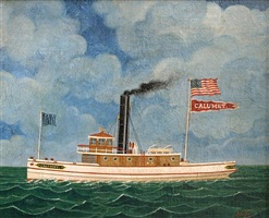 great lakes tugboat calumet by otto muhlenfeld