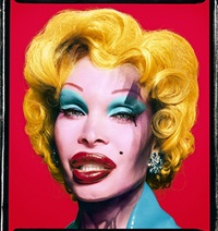 amanda as andy warhol's marilyn (red) by david lachapelle