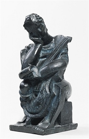 le violoncelliste by ossip zadkine
