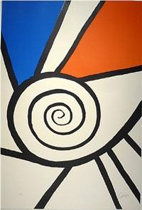 spirale rouge et bleu by alexander calder
