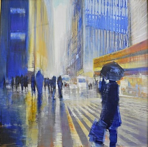 42nd street (sold) by david allen dunlop