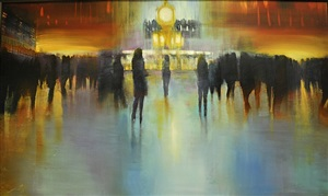 nyc, grand central terminal, luminous hour (sold) by david allen dunlop