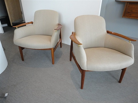 pair of chairs, model nv53 by finn juhl