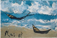 boats by the seashore by bui xuan phai