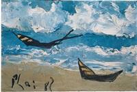 boats by the seashore by bui xuan phai