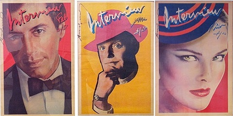 interview magazines (various) by andy warhol
