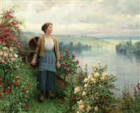 by the river by daniel ridgway knight